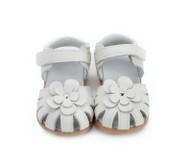 Toddler Girls White Genuine Leather Sandal.