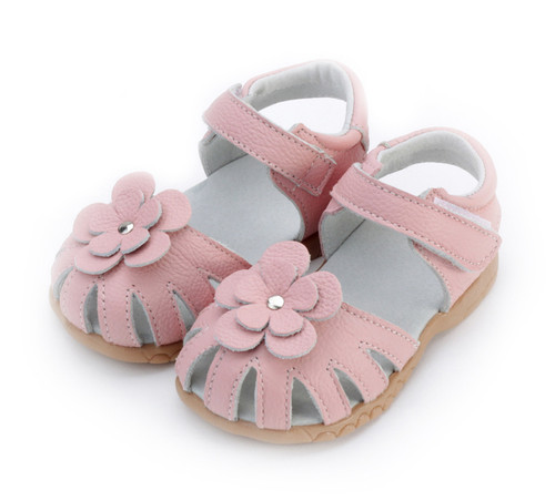 Toddler Girls Pink Genuine Leather Sandal.