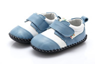 Baby Boy Light Blue Soft Soled Shoe.