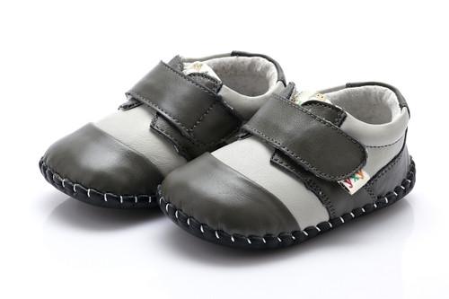 Baby Boy Grey Soft Soled Shoe.