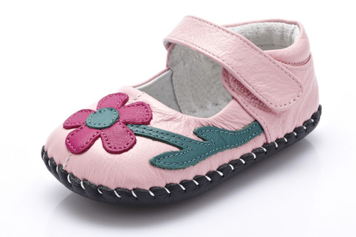 Baby Girl Light Pink Soft Soled Shoe.