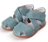 Blue 'Wrap Around' Genuine Leather Sandal.