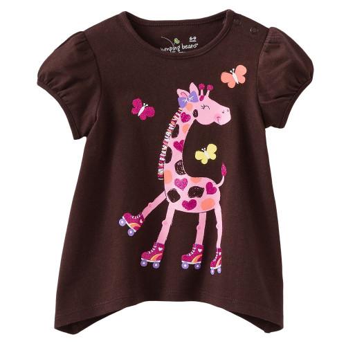Girls Pink Giraffe T Shirt