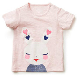 Girls Pink Loved Up Bunny T Shirt
