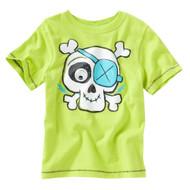 Boys Green Skull T Shirt