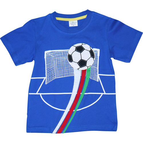 Boys Blue Soccer T-Shirt.