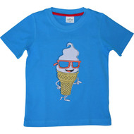 Boys Blue Ice Cream T-Shirt.