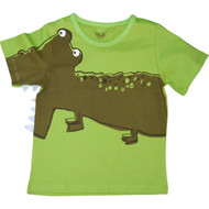 Boys Green T-Shirt with Crocodile.