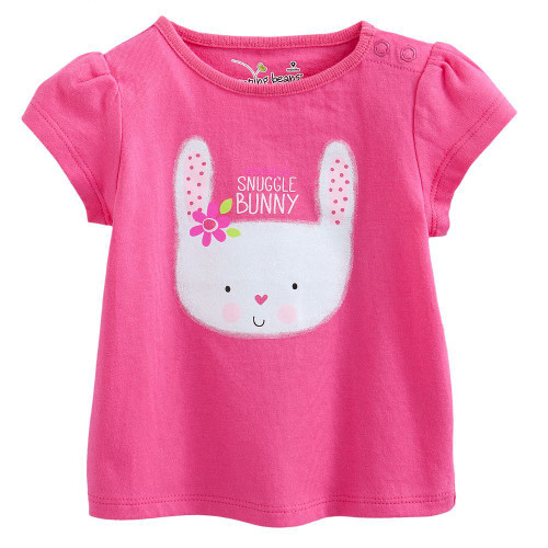 Girls Pink Snuggle Bunny T Shirt.