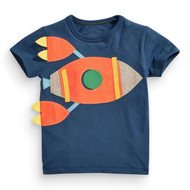 Boys blue spaceship tshirt