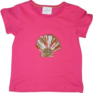 Girls Pink Sea Shell T Shirt