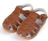 Boys Brown Genuine Leather Sandal.