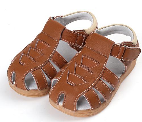 Boys Brown Genuine Leather Sandal.