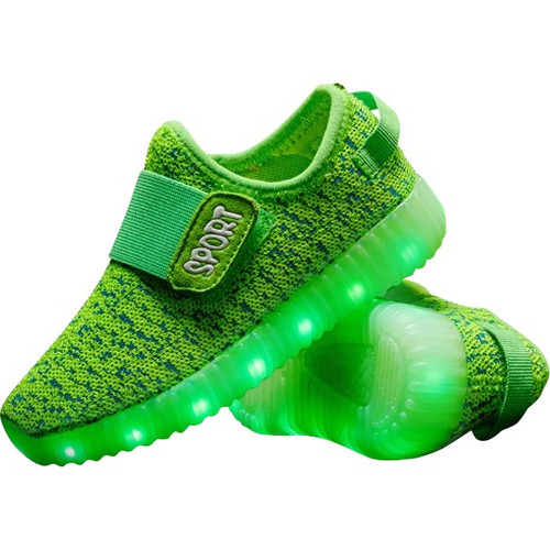 Green LED Light Up Shoes.