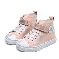 Pink Leather Converse style shoe.