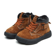 Boys Red Brown Leather Boots.