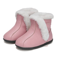 Pink Leather Fur Ugg Boots