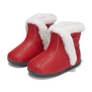 Red Leather Fur Ugg Boots