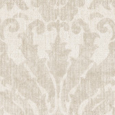 Contemporary Beyond Basics Twill Damask Bone White Wallpaper 420-87137