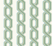 GE3611-Ashford House Geometrics Retro Links Green Wallpaper