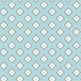 GE3620- Ashford House Geometrics Moroccan Spot Blue Wallpaper