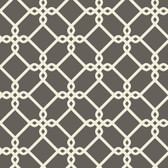 GE3626- Ashford House Geometrics Threaded Links Charcoal Grey Wallpaper