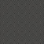 GE3716-Ashford House Geometrics Labyrinth Silver Wallpaper