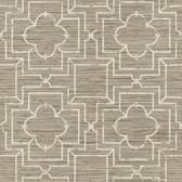 GE3661-Ashford Geometrics Irongate Trellis Taupe Wallpaper