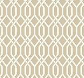 GE3680-Ashford Geometrics Garden Pergola Beige Wallpaper