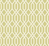 GE3681-Ashford Geometrics Garden Pergola Olive Green Wallpaper