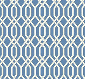 GE3683-Ashford Geometrics Garden Pergola Blue Wallpaper