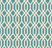 GE3684-Ashford Geometrics Garden Pergola Aqua Wallpaper