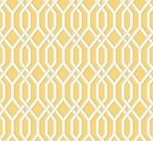 GE3685-Ashford Geometrics Garden Pergola Yellow Wallpaper