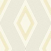 GE3692-Ashford Geometrics Aspen Yellow-White Wallpaper