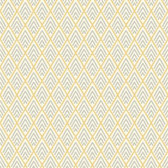 GE3700-Ashford Geometrics Chalet Yellow-Grey Wallpaper