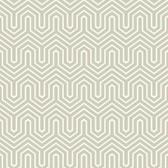 GE3713-Ashford Geometrics Labyrinth Silver Wallpaper