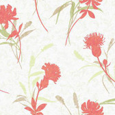 WB5402 - Ashford House Botanical Fantasy Open Floral Wallpaper in Orange and Green
