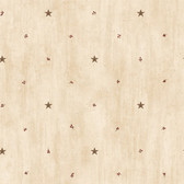 BBC09068 Marge Wheat Star Sprigs Toss Wallpaper Wallpaper