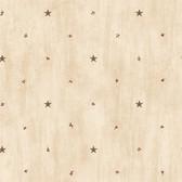 BBC09068 Marge Wheat Star Sprigs Toss Wallpaper Wallpaper