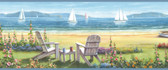 BBC20021B Regatta Blue Seaside Cottage Portrait Border