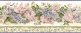BBC20043B Ethel Cream Heirloom Lilacs Trail Border