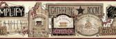 Alfred Gathering Room Signs Border Hazelwood Wallpaper BBC20061B