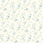 BBC21561 Carla Blue Spring Bloom Trail Wallpaper Wallpaper