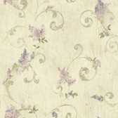 BBC21605 Emma Grey Lilac Acanthus Scroll Wallpaper Wallpaper