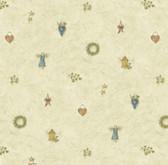 BBC21711 Mazy Blue Hearts Dolls Toss Wallpaper Wallpaper
