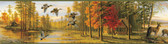 BBC35541B Autumn Green Quiet Evening Portrait Border
