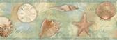BBC46052B Quinten Green Seashells Toss Border