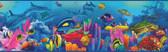 BBC46351B Down Under Blue Neptune'S Garden Portrait Border