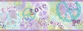 BBC46381B Janis Purple Peace Love Toss Border
