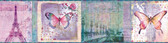BBC46402B Worldly Purple Bon Voyage Butterflies Border